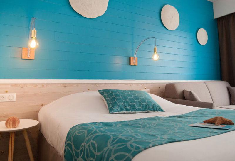 Décoration Hôtel La Côte Océane - Chambre bleue