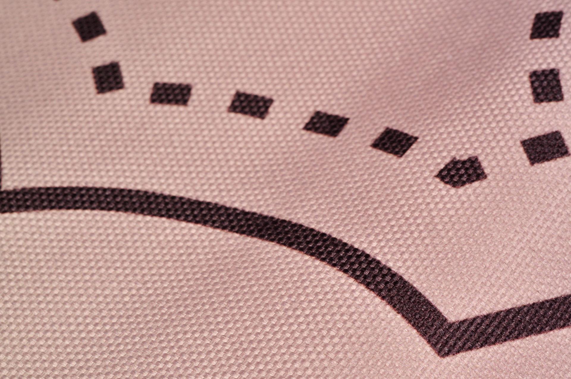 Impression numérique tissu natté - Logo Clos des Tanneurs