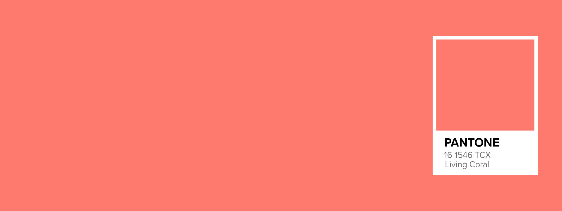 Coloris Living Coral par Pantone