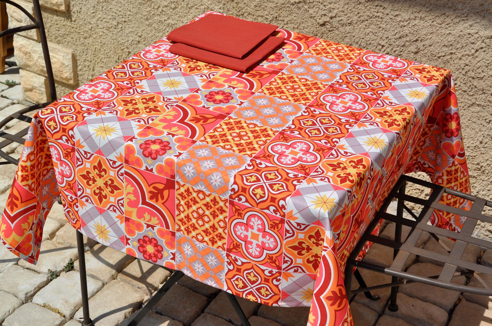 Nappe Deauville - coloris piment
