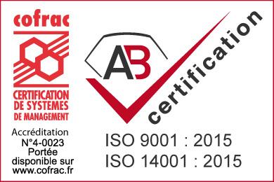 Certification ISO 9001 et 14001