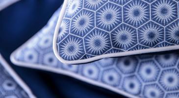 Coussins et chemin de lit confectionnés sur-mesure