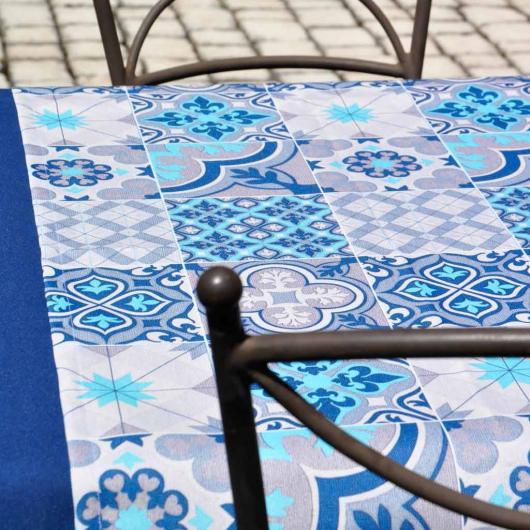 Chemin de table Deauville coloris Azur