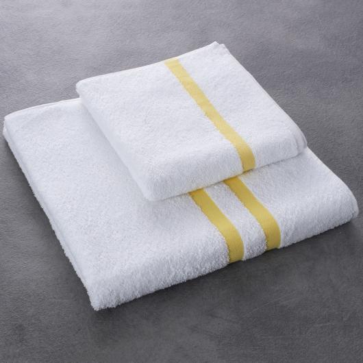 Drap et serviette de bain Eden - coloris jaune