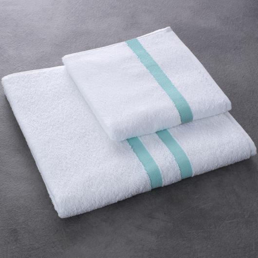 Drap et serviette de bain Eden - coloris vert