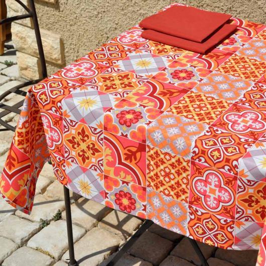 Nappe en tissu Deauville coloris Piment