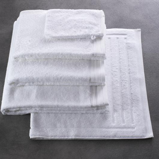 Linge éponge Romane - coloris blanc