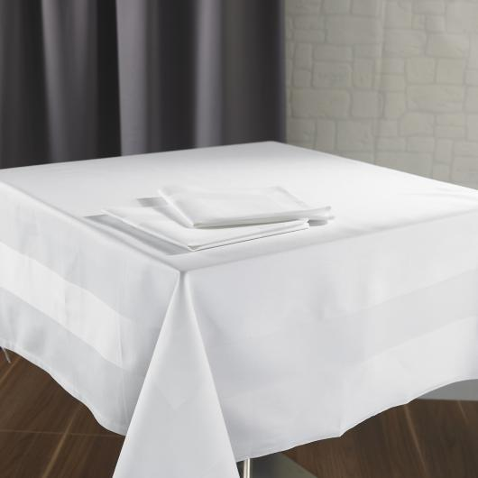 Nappe et serviettes de table satin bande satin
