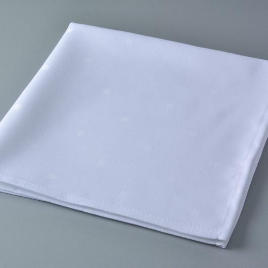 Serviette de table Simetry coloris blanc
