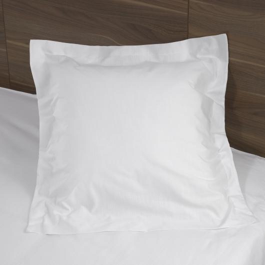 Taie d'oreiller Tradition carrée avec volant piqué - Denantes