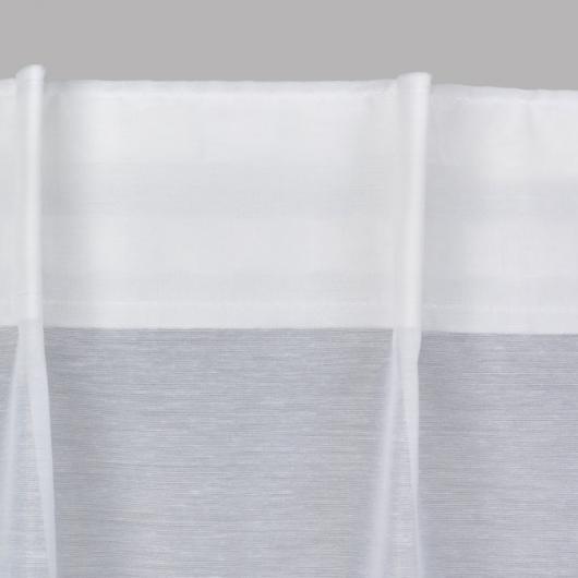 Zoom sur voilage à plis simples - Denantes