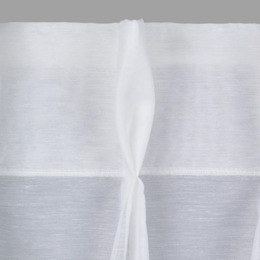 Zoom sur voilage finition tête tapissière double - Denantes