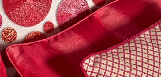 Coussins décoratifs ambiance rouge - Collection 1723 - Judith, Joséphine et Maria