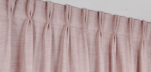 Zoom rideaux à tête tapissière - Denantes