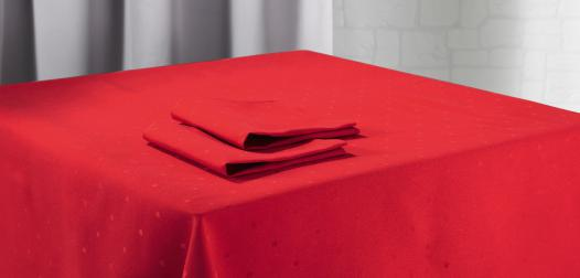 Nappe et serviettes de table Simetry coloris Capucine