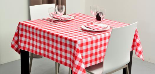 Nappe et serviettes de table motif Vichy, référence Texas - Denantes