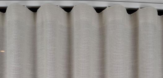 zoom sur voilage finition vague - Denantes