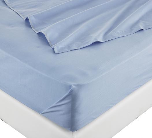 Linge de lit coloris bleu - Denantes