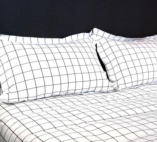 Parure de lit à carreaux Atlas
