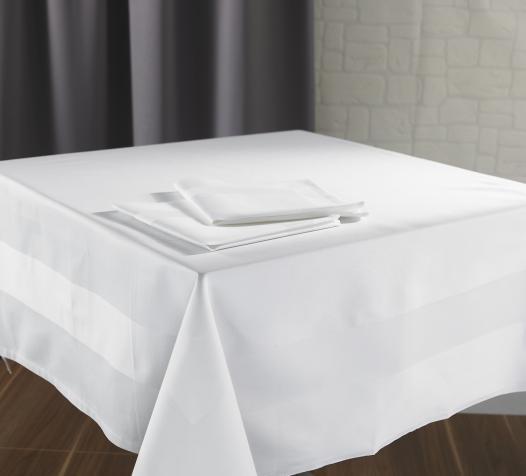 Nappe et serviettes de table satin bande satin