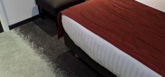 Moquette dégradé gris foncé et gris clair chambre d'hôtel