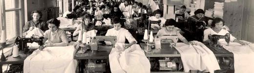 Photo des ateliers de couture et de confection de la société Denantes - 1940
